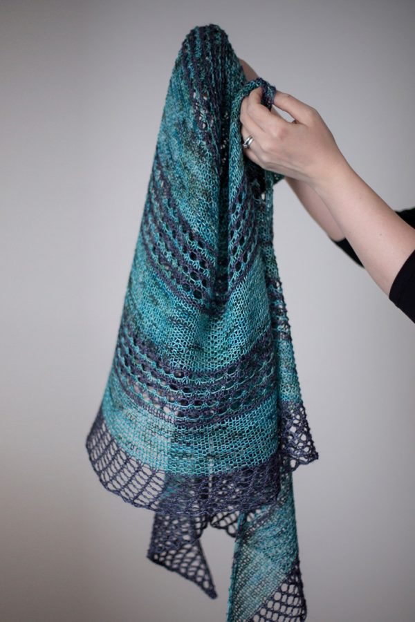 On the Road shawl pattern from Woolenberry