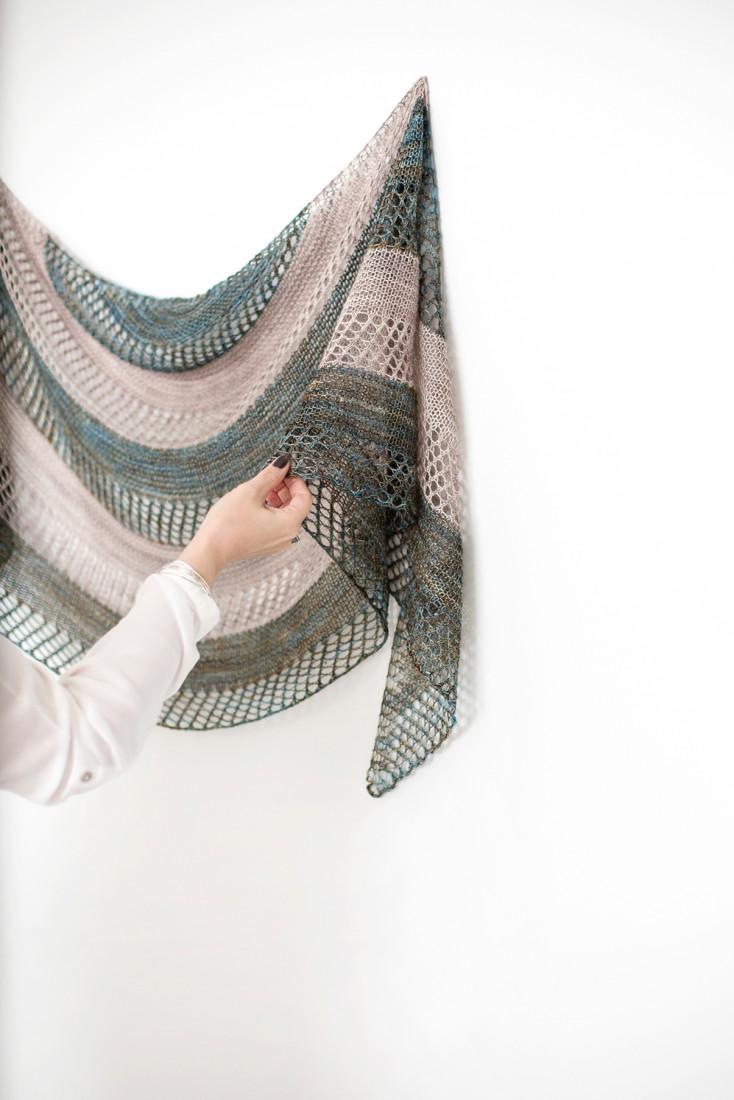 Stella shawl pattern from Woolenberry