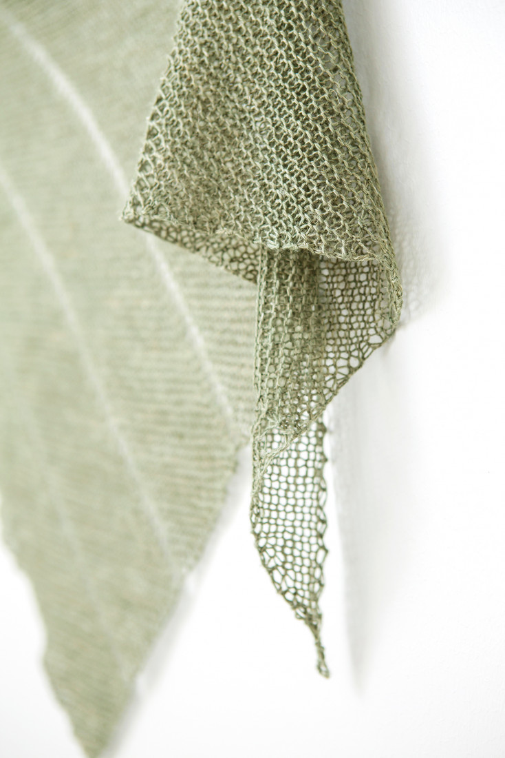 Desert Rain shawl pattern from Woolenberry