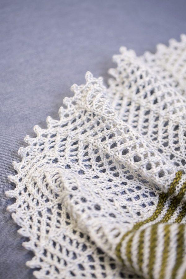 Spotlight shawl pattern from Woolenberry