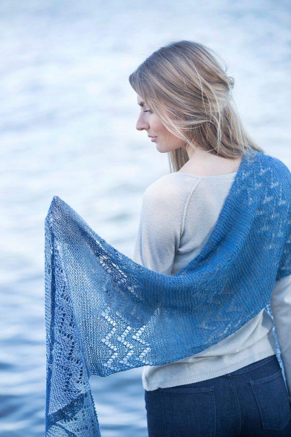 Oceana shawl pattern from Woolenberry