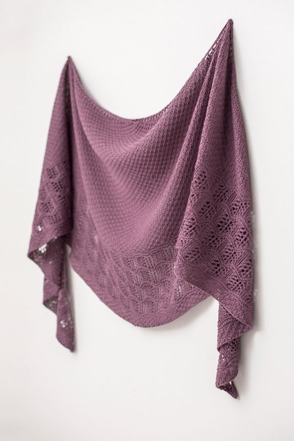 Malva shawl pattern from Woolenberry