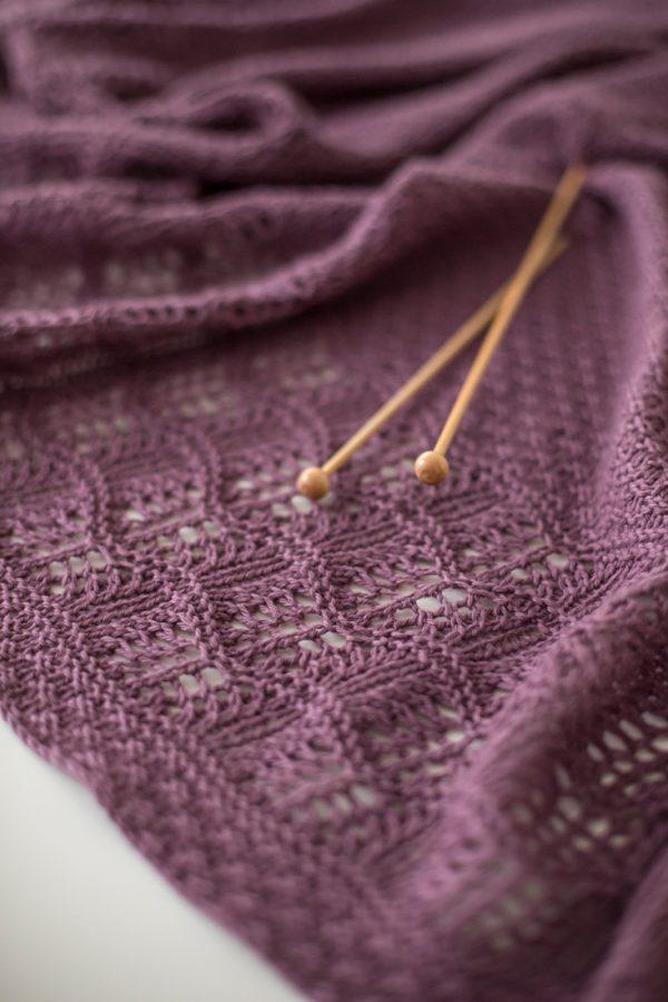 Malva shawl pattern from Woolenberry