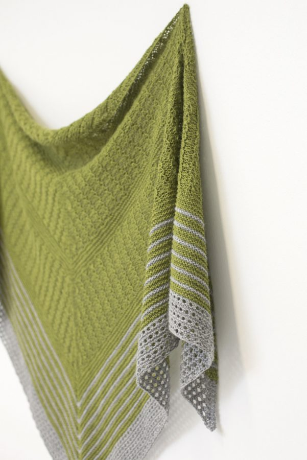 Autumn Woods shawl pattern from Woolenberry
