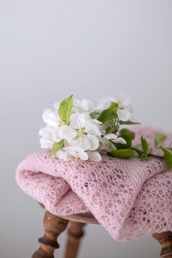 Wild Cherries shawl pattern from Woolenberry