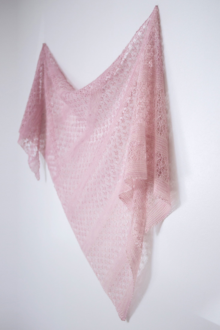 Wild Cherries shawl pattern from Woolenberry