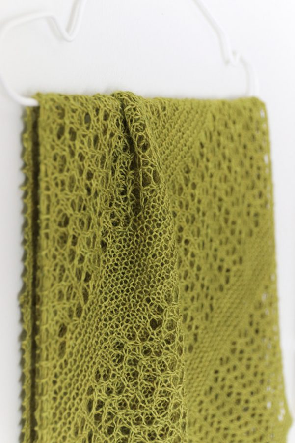 Fern Fronds shawl pattern from Woolenberry