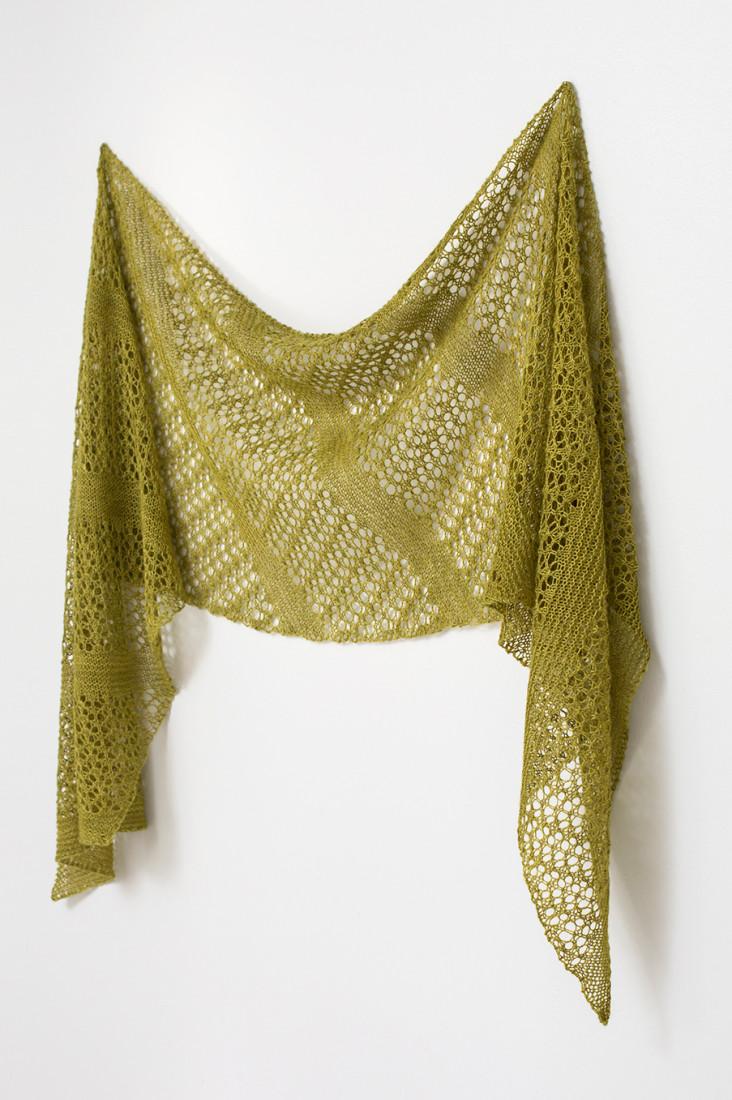 Fern Fronds shawl pattern from Woolenberry