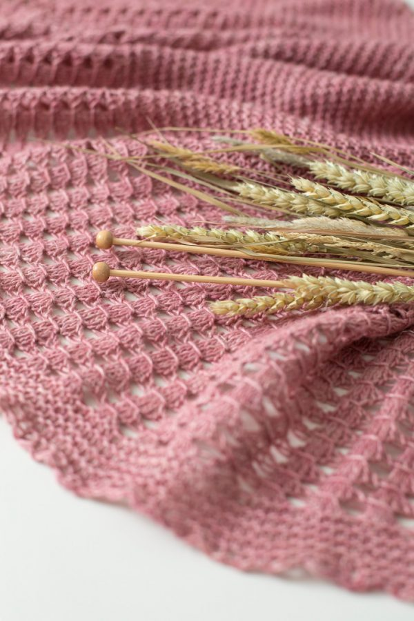Late Harvest shawl pattern from Woolenberry