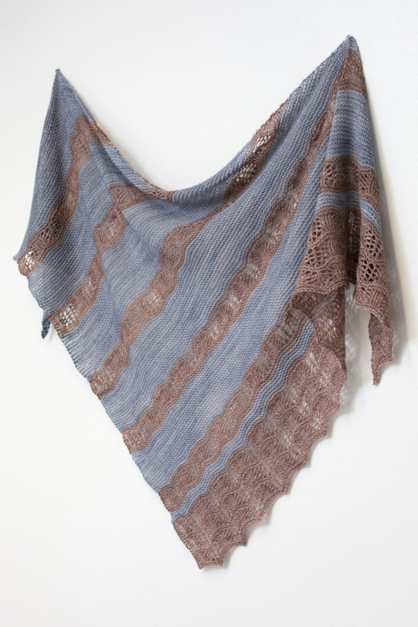 Touchstone shawl pattern from Woolenberry