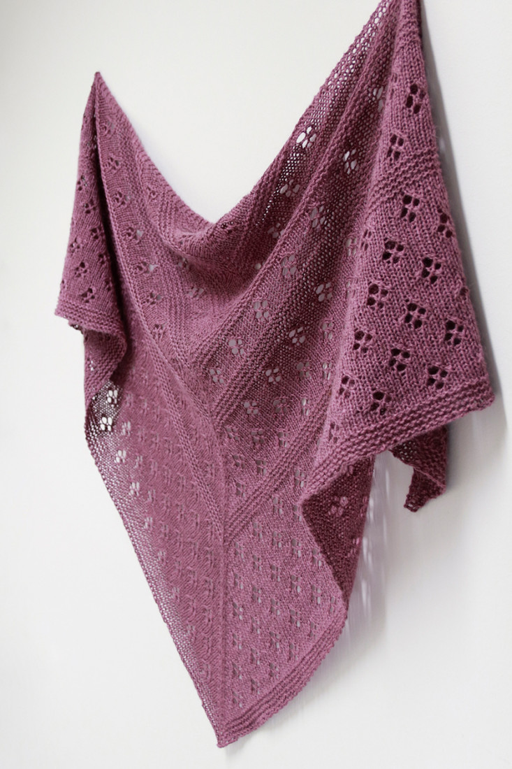Flowers of Winter shawl pattern