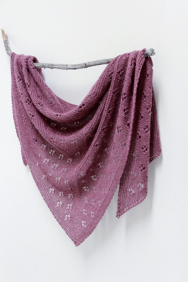 Flowers of Winter shawl pattern