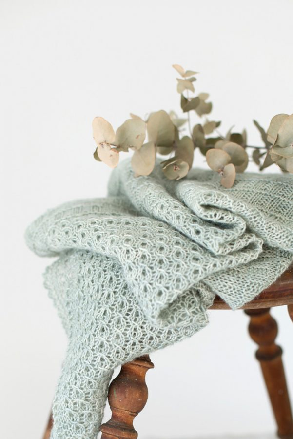 Elbe shawl pattern from Woolenberry
