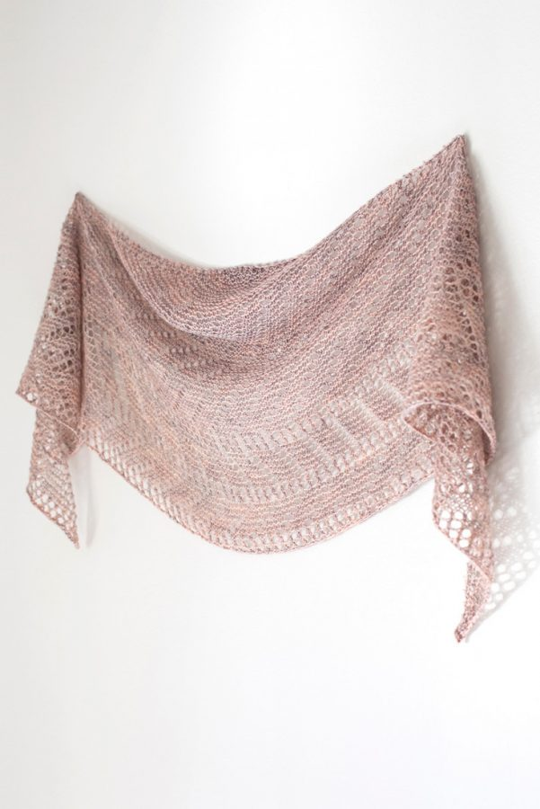 Railings shawl pattern from Woolenberry