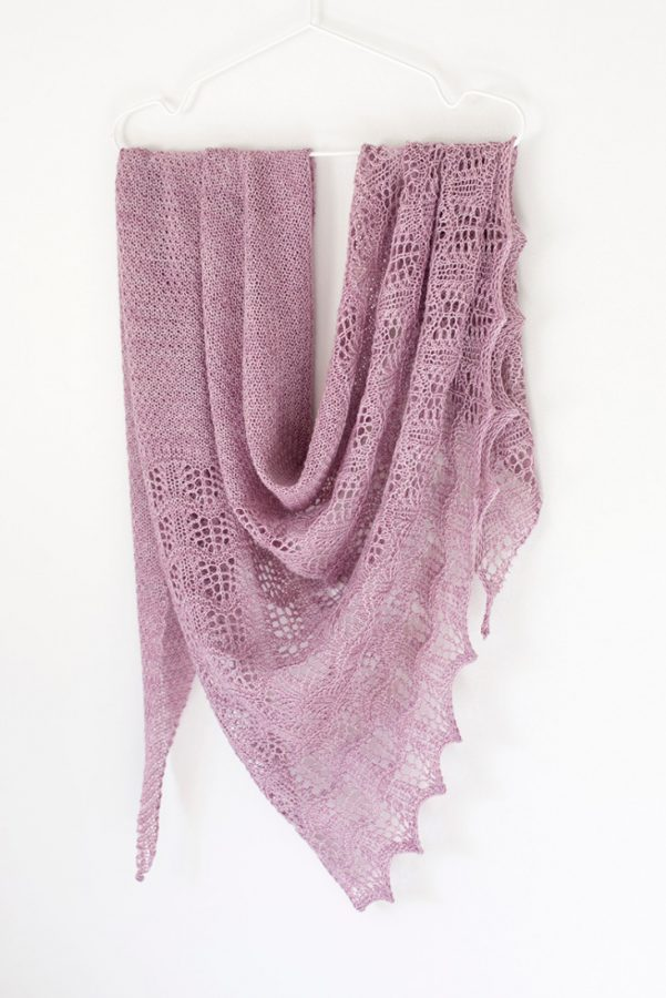 Tiber shawl pattern from Woolenberry