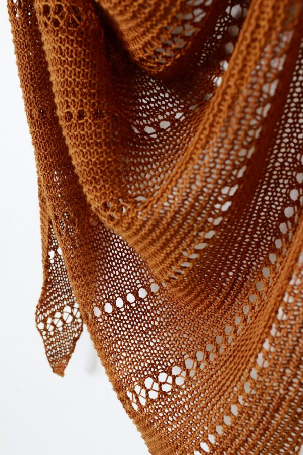 Tidelines shawl pattern from Woolenberry.