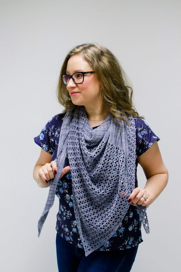Thames shawl pattern from Woolenberry.