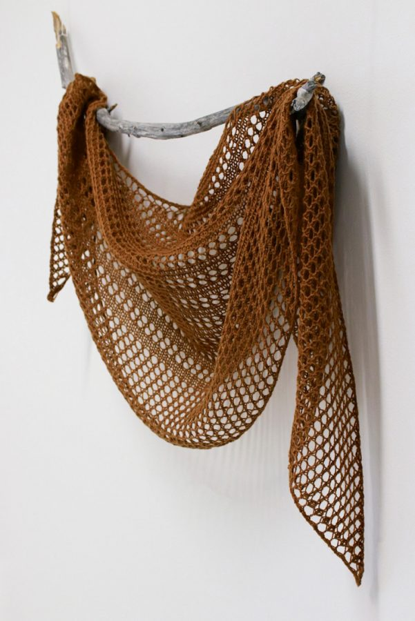 Sommelier shawl knitting pattern from Woolenberry