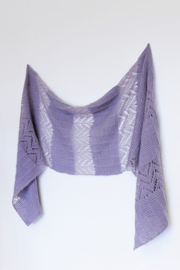 Autumn Breeze rectangle shawl from Woolenberry