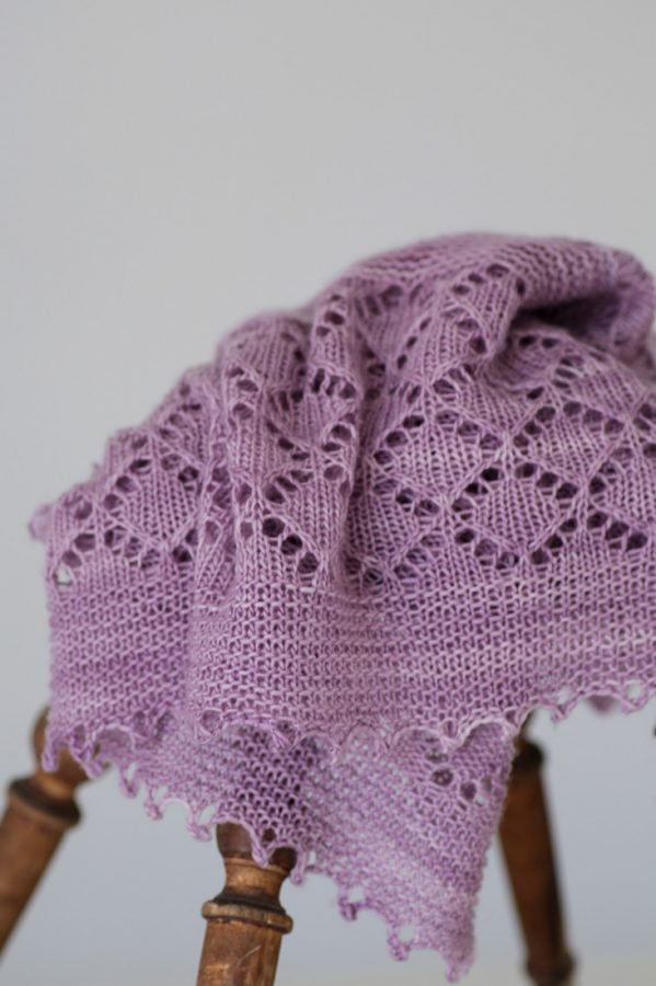 Spring Delight shawl pattern from Woolenberry
