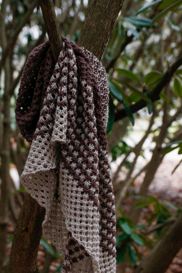 Winter Frost shawl knitting pattern from Woolenberry
