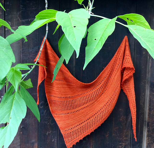 Project Love: Ardent shawl from Woolenberry.