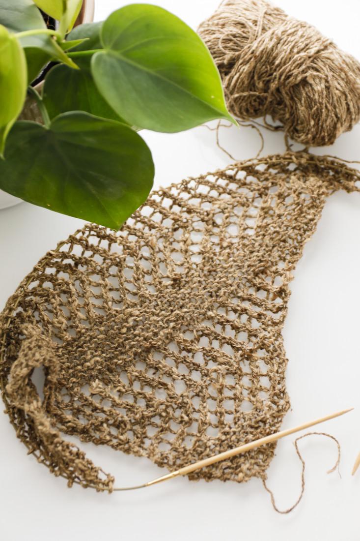 Linum shawl on the needles with BC Garn Tussah Tweed