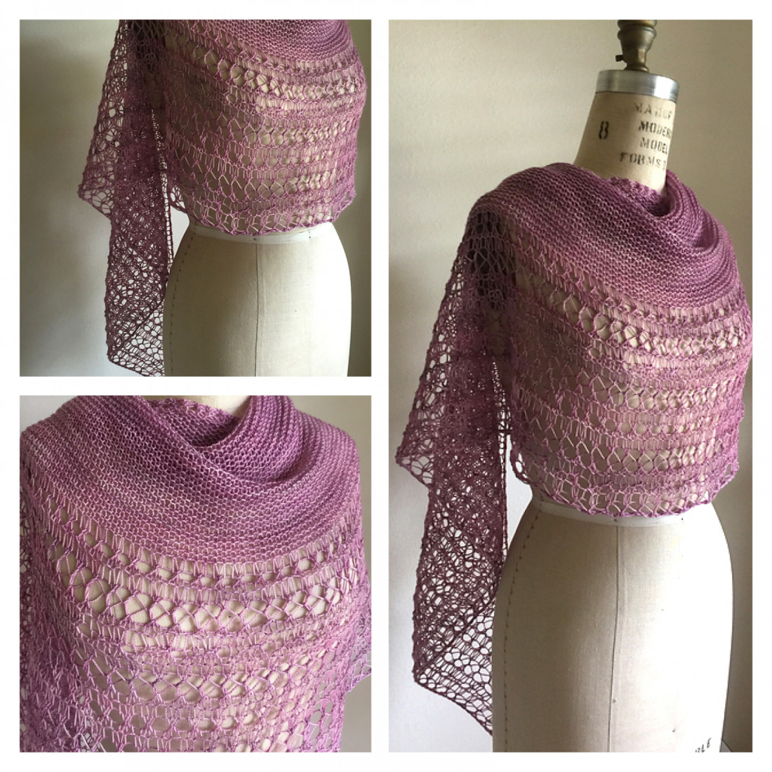 Rosewater shawl pattern from Woolenberry