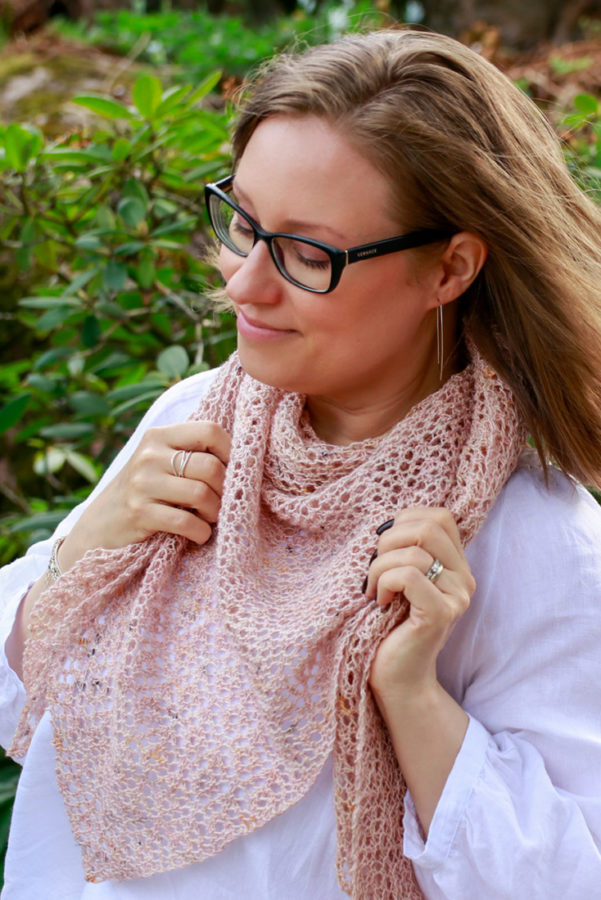 Spring Sparkle shawl pattern from Woolenberry