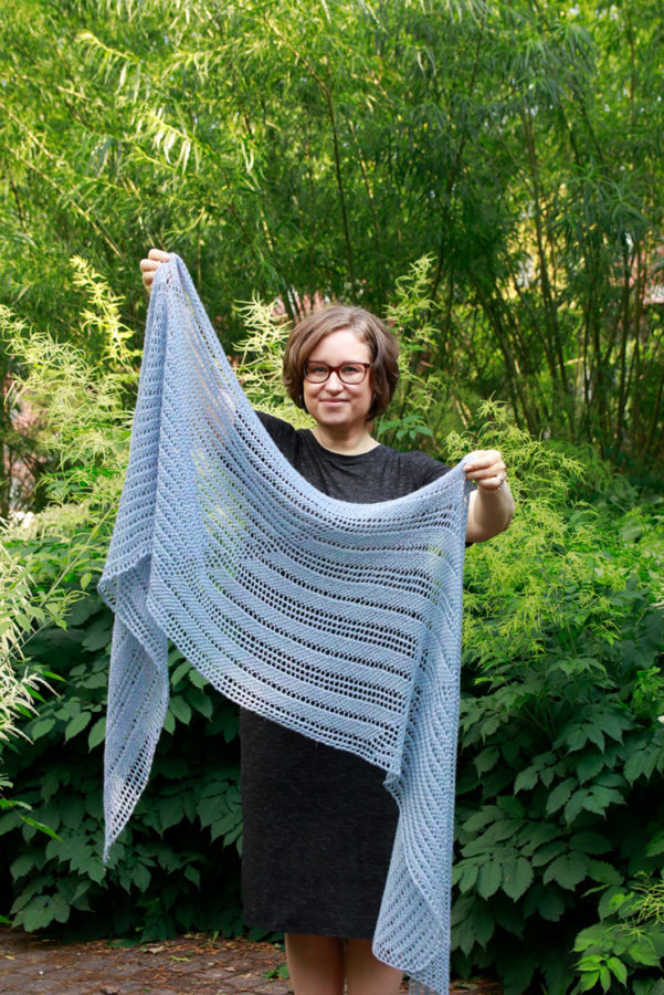 Summer Dreams rectangle shawl from Woolenberry