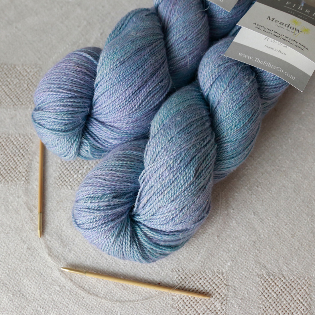 The Fibre Co Meadow in Aster on my needles