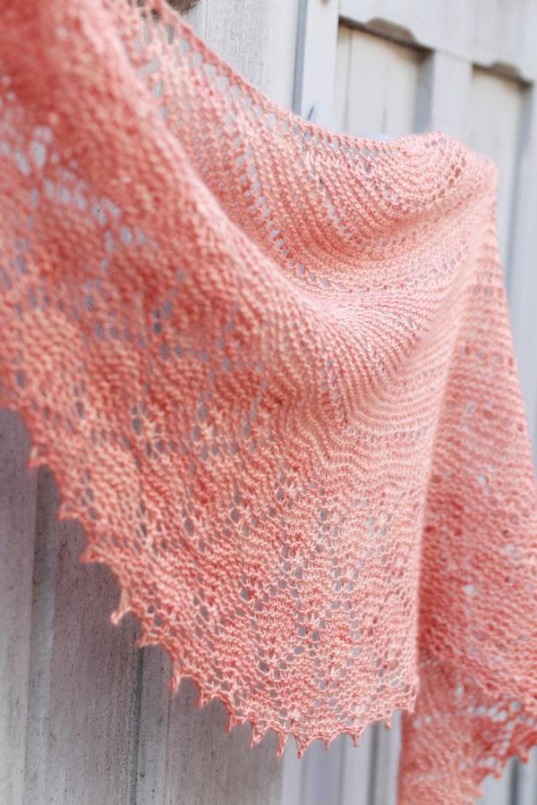 One skein wonder: Break of Dawn shawl knitting pattern